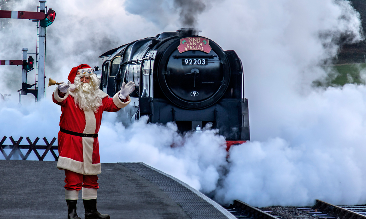 Christmas Events in Norfolk Santa on North Norfolk railway